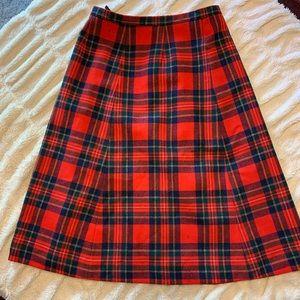 VINTAGE tartan Pendleton wool skirt